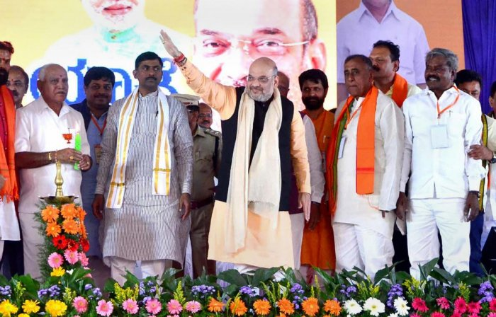 Amit Shah attacks 'anti-Hindu' Cong rule, rakes up corruption