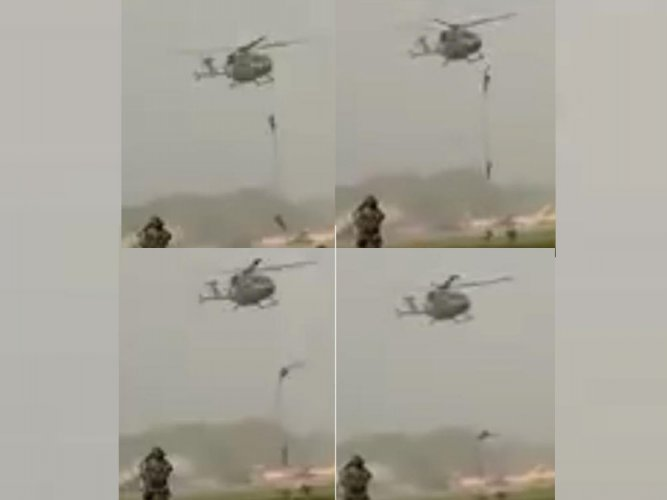 Three soldiers injured while slithering down from chopper