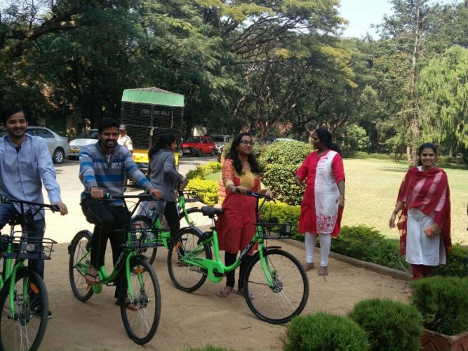Zoomcar offers bicycle-sharing service at IISc