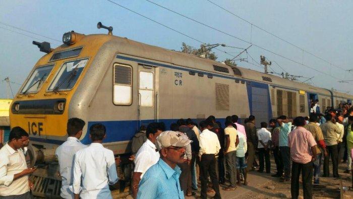 Train hits platform at Wadi Junction