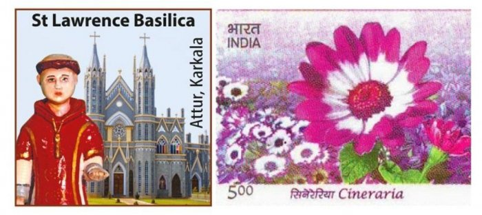 Special cover and stamp on St Lawrence Minor Basilica of Attur
