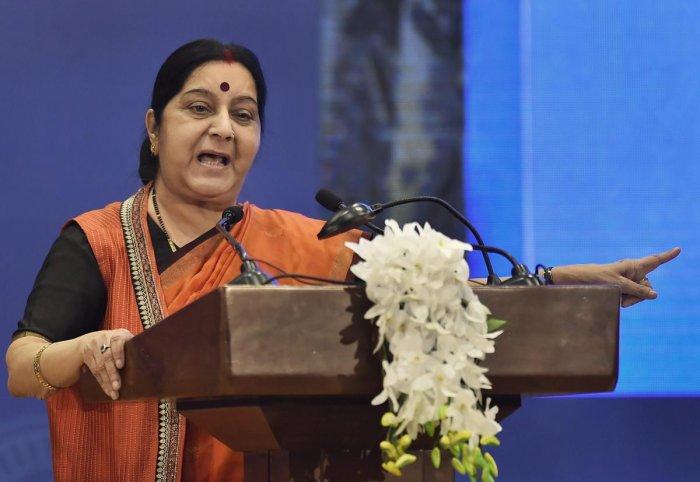 India-Bhutan ties built on utmost trust, sensitivity to each other's interests: Swaraj