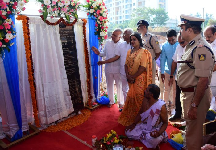 Foundation laid for police quarters in Mangaluru