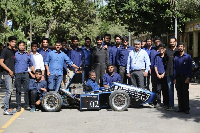 RVCE's Ashwa Racing team launches prototype of 1st electric race car