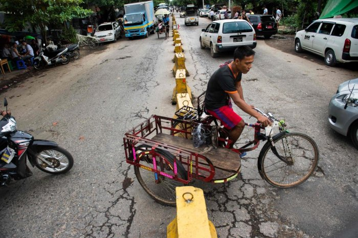 Trishaws keep rolling on Myanmar's streets