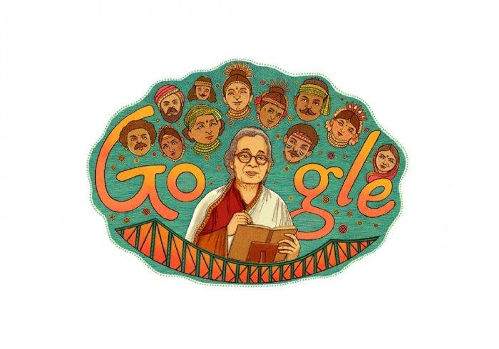 Google honours award-winning author Mahasweta Devi