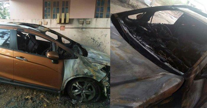 Several parked cars set ablaze in Kalaburagi city