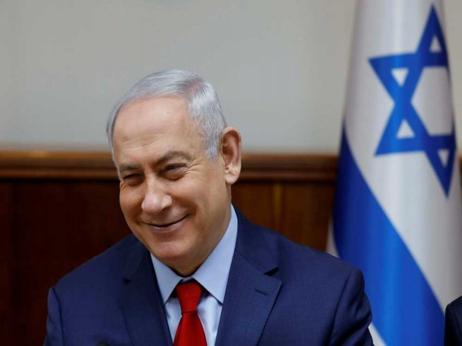 Netanyahu arrives on a six-day visit to India