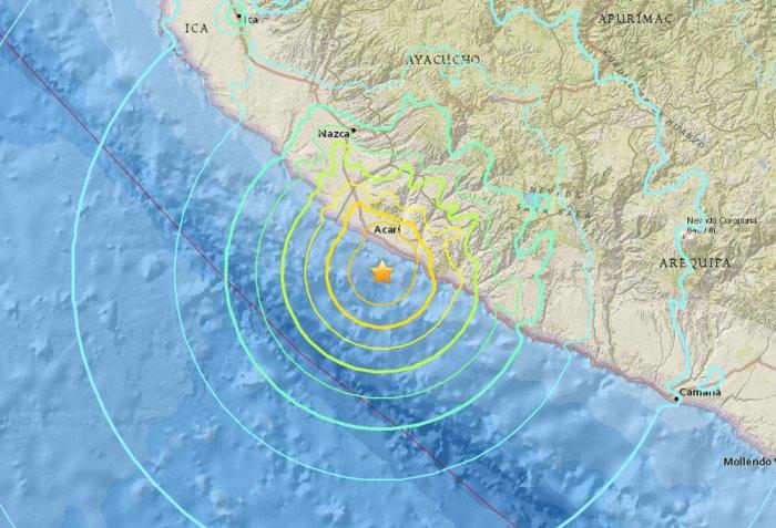 7.3-magnitude earthquake strikes off Peru; tsunami threat