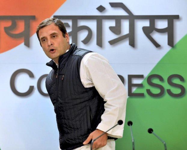 Orange passports: Rahul says it shows BJP's discriminatory mindset