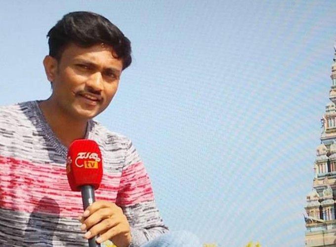 Kannada TV journalist Mounesh Potharaj's body transported in a garbage tractor