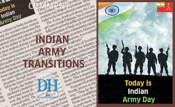 Indian Army transitions