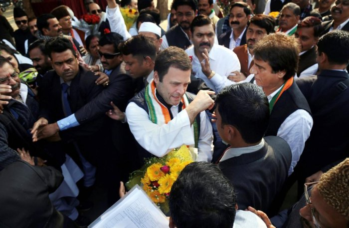 Rahul on temple run, begins UP tour with visit to Hanuman temple