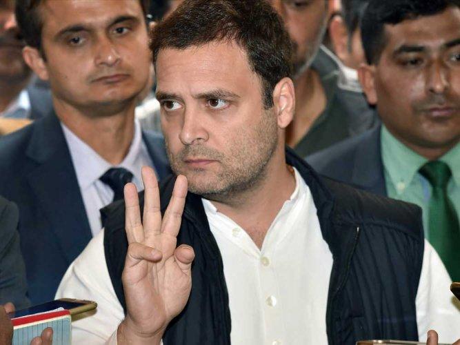 Angry protesters greet Rahul Gandhi in Rae Bareli, Amethi