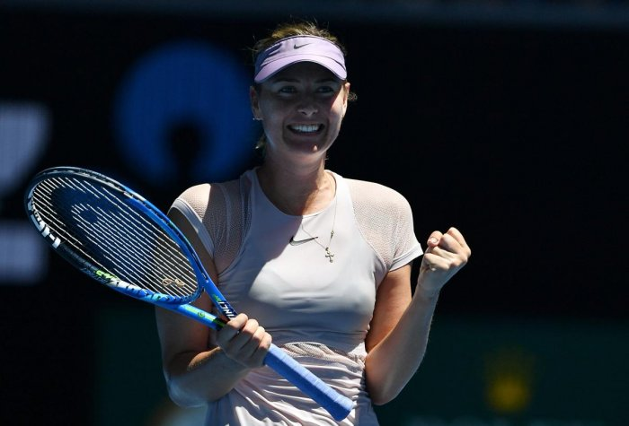 Sharapova happy to be back in old routine