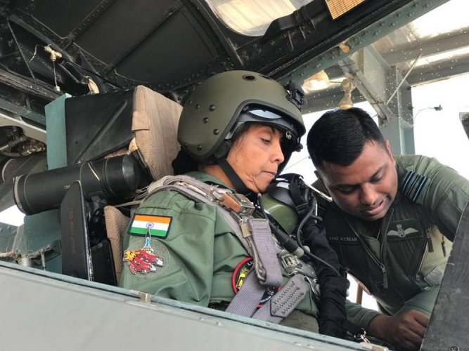 Watch: Nirmala Sitharaman undertakes sortie in Su-30, scripts history