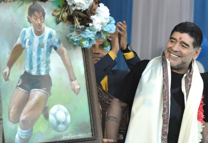 Maradona's daughter's wedding sparks family drama