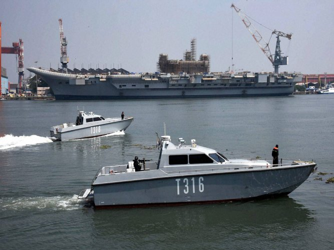 Navy to induct Vikrant by Oct 2020
