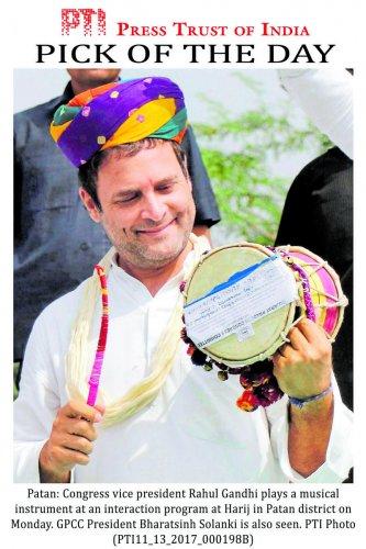 Upbeat Rahul keen to replicate Guj poll strategy in Karnataka
