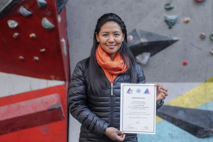 Female Sherpa from Nepal scales new heights
