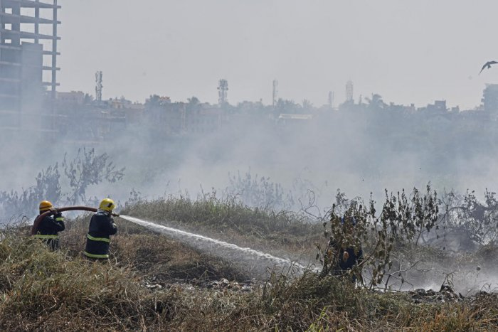 Bellandur Lake fire so big it rages overnight