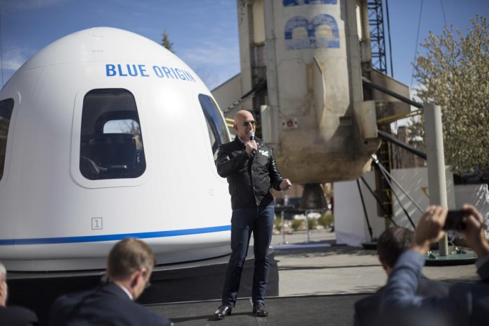 In public eye: 'Mr Amazon' Jeff Bezos steps out