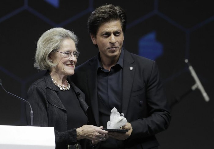 Bollywood star Shah Rukh Khan urges Davos set to fight sexism