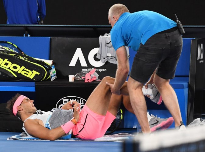 Painful end for Nadal