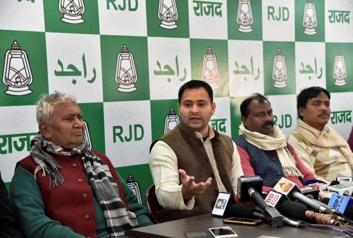 RJD to appeal against CBI court order on Lalu: Tejashwi