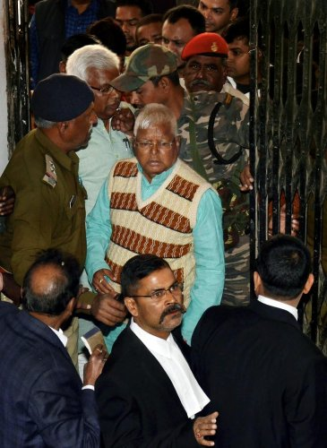 Third fodder scam case: Lalu awarded 5-years jail term