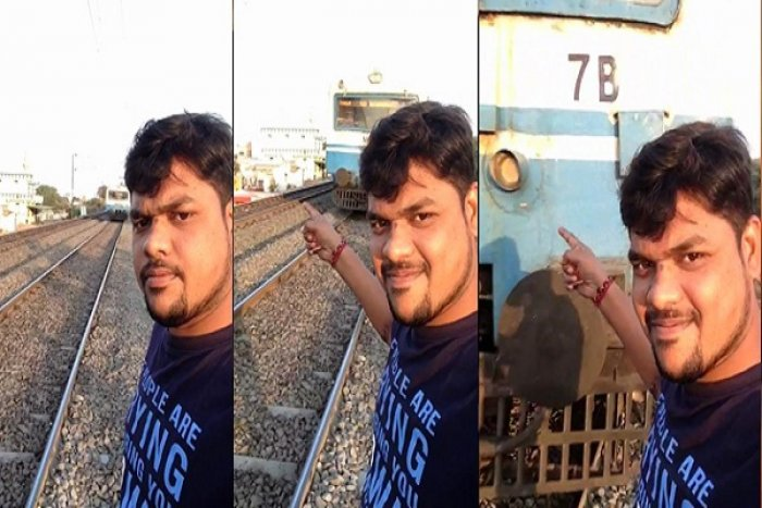 Youth injured while taking selfie with speeding train