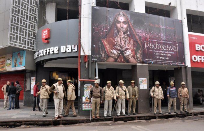 'Padmaavat' screened in UP amid protests