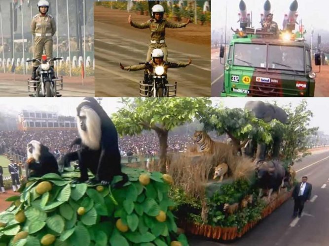 India's military might, cultural heritage mark R-day parade