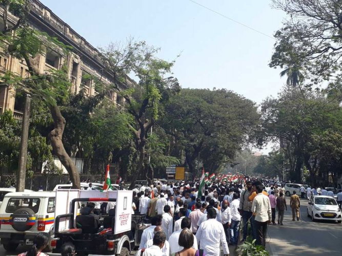 BJP, Oppn take out marches over Constitution