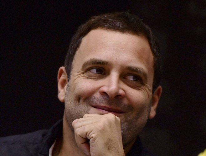 Rahul Gandhi watches R-Day parade from sixth row, Congress cries foul