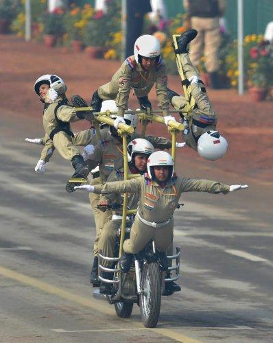 BSF women bike stunts cynosure of all eyes