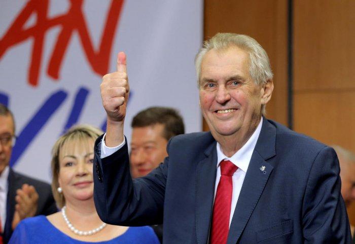 Pro-Russian Zeman wins second term as Czech president