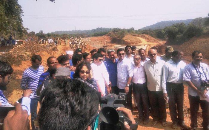 Team led by Goa speaker visits Kalasa-Banduri project site