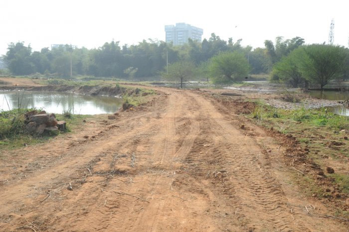 Yet another outrage: road coming up on Sompura Lake