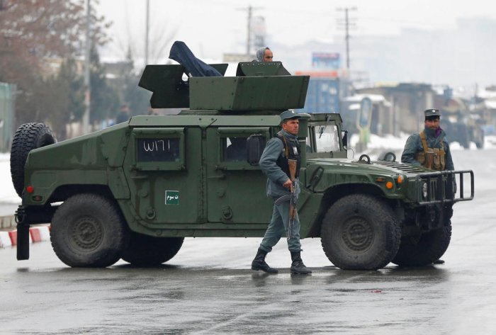 Islamic State group claims attack on Kabul military compound