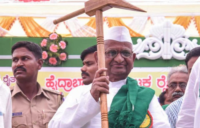Massive farmers' rally at Delhi on March 23: Anna Hazare