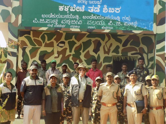 PCCF inspects elephant trench works in Hanur