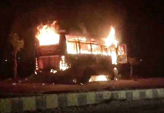 Close shave for 39 children as bus catches fire,