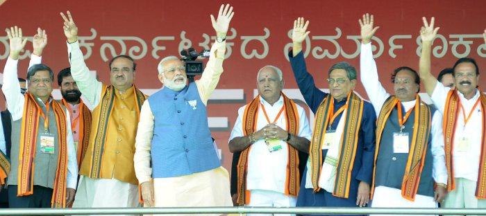 Corrupt '10% sarkar' ruling Karnataka, says Modi