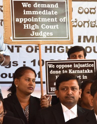 Advocates go on relay hunger strike against judicial vacancies