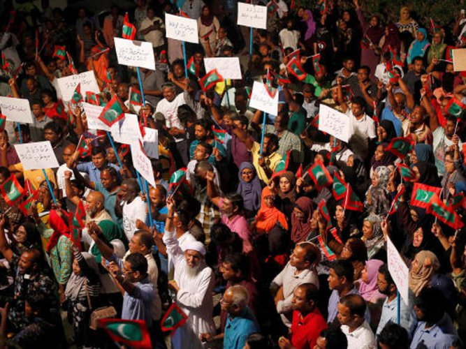 India 'disturbed' by declaration of emergency in the Maldives