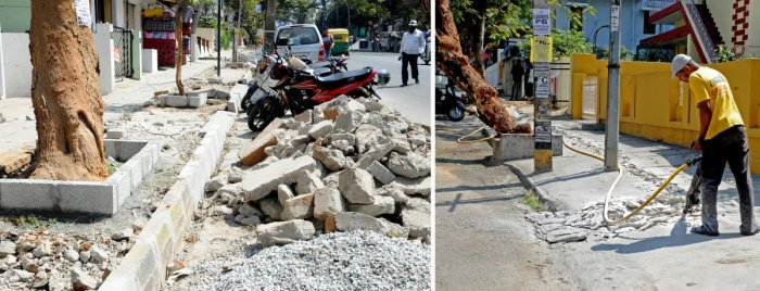 Baffled Jayanagar residents ask why footpath is being relaid