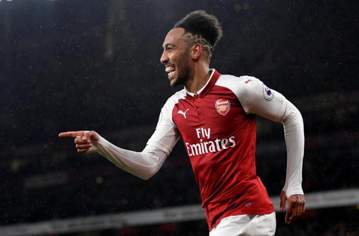 71e84a0e EYES ON HIM Arsenal's Pierre-Emerick Aubameyang, who shone on debut against  Everton, will get his first taste of the North London rivalry when the  Gunners ...
