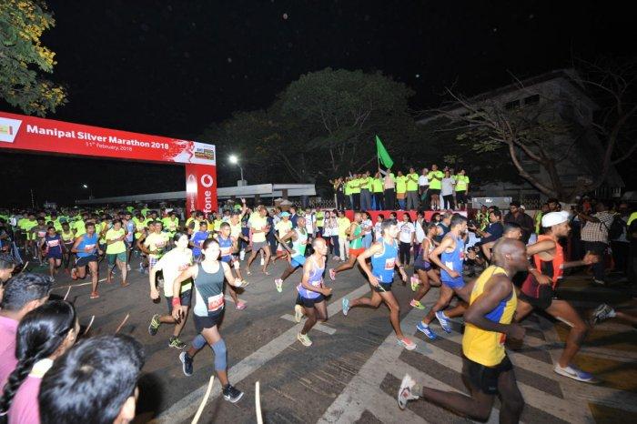 Ethiopians win Manipal Silver Marathon