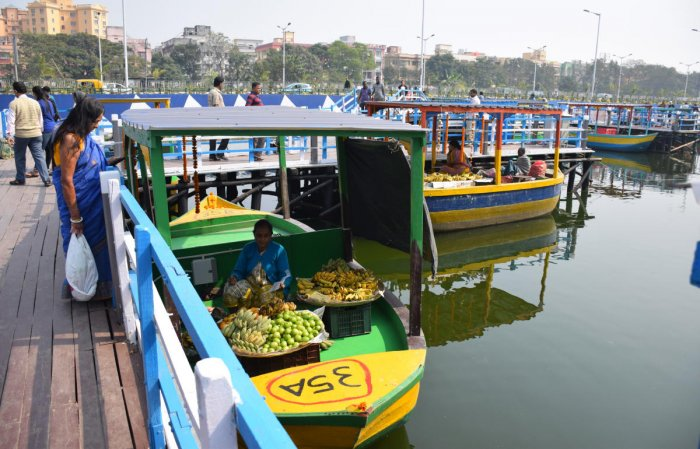 Kolkata's first floating market